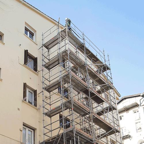 Coordinación de seguridad en fase de obra de instalación ascensor Escolta real 46. Donostia