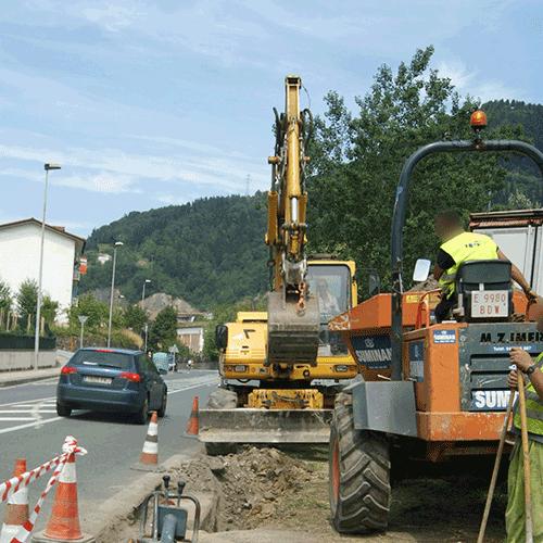 Coordinación de seguridad en fase de ejecución de construcción de tramo de vía ciclista peatonal Itsasondo ordizia. Itsasondo Ordizia