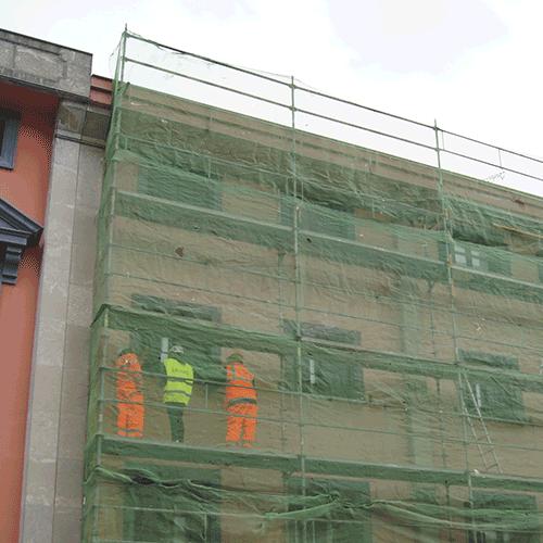 Coordinación de seguridad en fase de obra de reparación de fachada herriko plaza 9-10. Anoeta