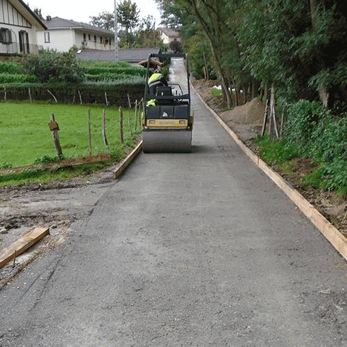 Coordinación de seguridad en fase de ejecución de la reparación de camino Oiakinta. Barrio de Ventas. Irún