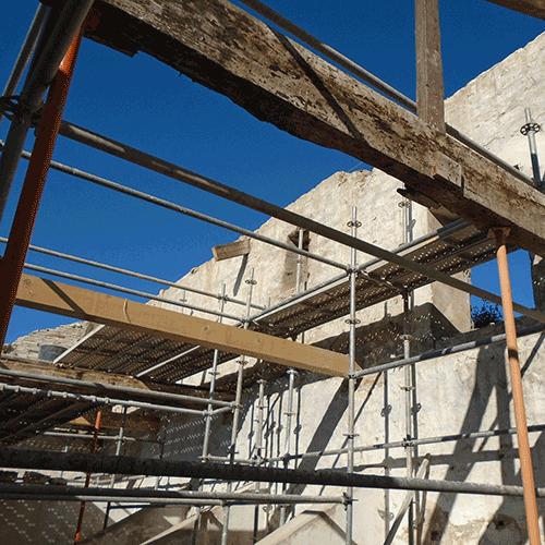 Coordinación de seguridad en fase de ejecución de Demolición de las edificaciones señaladas como A, B y C. Polígono San Lázaro, 1. Laguardia
