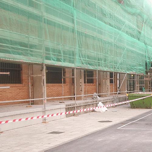 Coordinación de seguridad en fase de obra de reparación de fachadas del CEIP Belaskoenea HLHI Irun