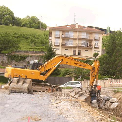 Coordinación de seguridad en fase de obra del aparcamiento provisional Barrio de Arbes. Irún014P 03MH