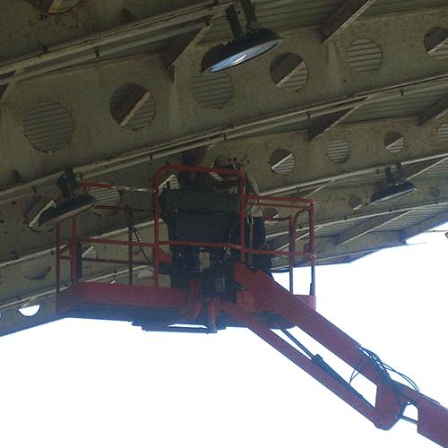 Coordinación de seguridad en fase de obra de saneo y pintado de la estructura de la cubierta de graderios del Stadium Gal. Irun