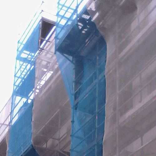 Coordinación de seguridad en fase de ejecución de reparación de fachada en Puiana 9 de Irun
