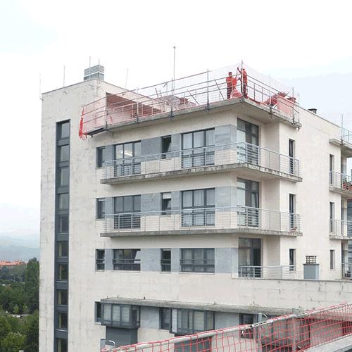 Coordinación de seguridad en fase de ejecución de reparación del tejado del edifico Txara I. Donsotia