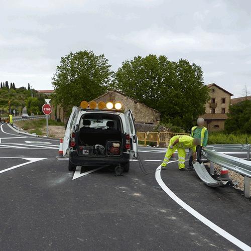 Coordinación de seguridad en fase de obra de adecuación del camino existente denominado Pisarnoso con la carretera A-3210 P.K. 65 620. Laguardia
