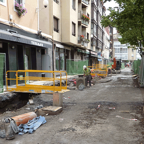 Coordinación de seguridad en fase de ejecución de la urbanización de la plaza Eusebio Gurrutxaga. Zumaia.