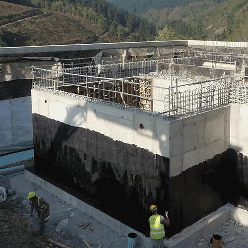 Coordinación de seguridad en fase de obra de construcción de dos depósitos de suministro de agua y la realización de trabajos de urbanización Epele. Bergara