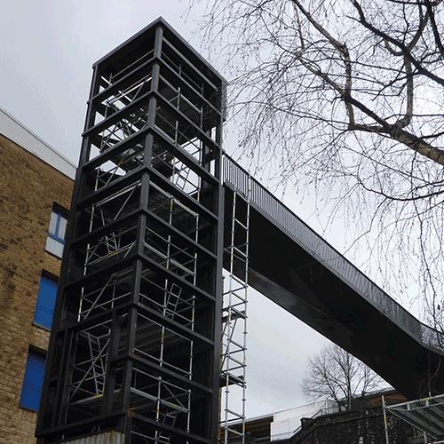 Coordinación de seguridad en fase de obra del ascensor público urbano para la mejora de la accesibilidad entre Latxunbe-Berri Auzoa y Urbieta Kalea. Hernani