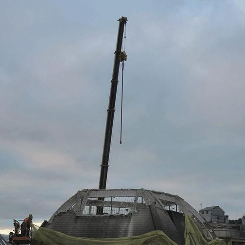 Coordinación de seguridad en fase de ejecución de derribo de la cúpula del edificio Bellas Artes