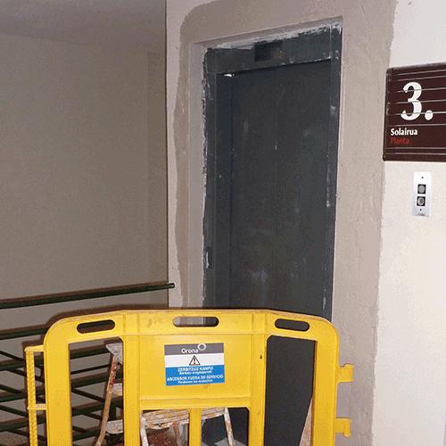 Coordinación de seguridad en fase de ejecución de sustitución de ascensores en el Gerontológico Egogain. Eibar