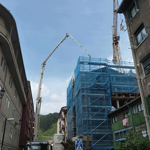 Coordinación de seguridad en fase de obra de 12 viviendas, trasteros y locales, San Francisco 32. ELGOIBAR