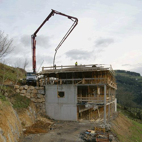 Coordinación de seguridad en fase de ejecución de la sustitución y obra nueva del caserio Arsuaga gain. Azpeitia